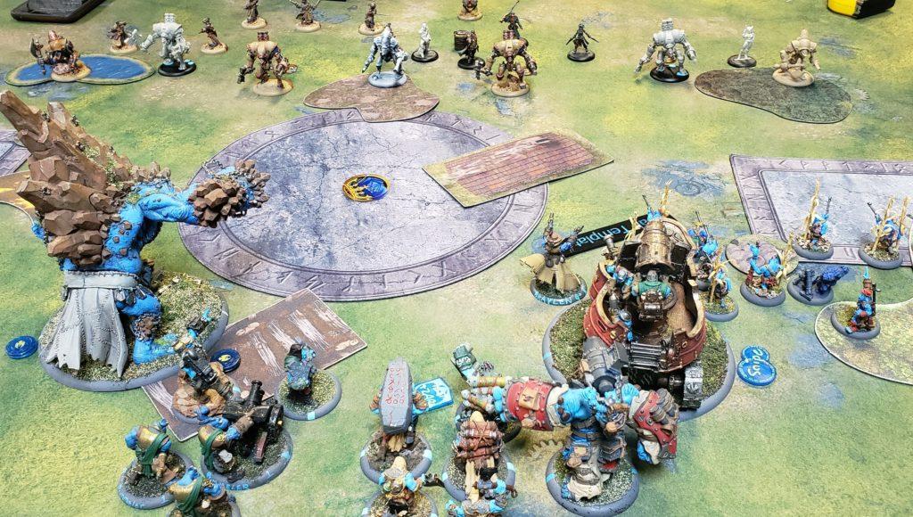 Trollbloods Kriel Company advancing on Cygnar